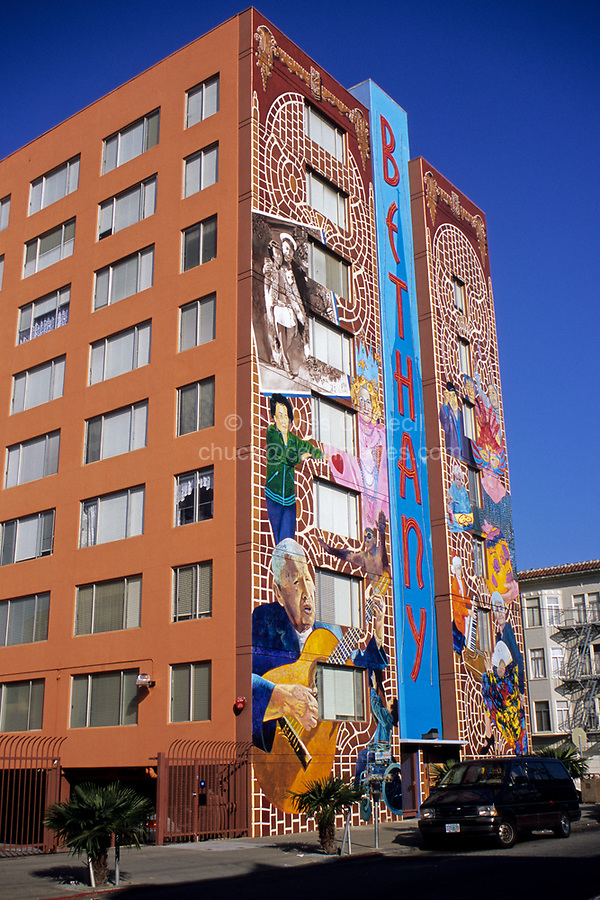 San Francisco, California - Mural by Dan Fontes, 21st Street Assisted Living Facility, Mission District
