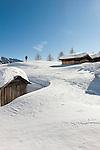 Italy, Veneto, Province Belluno, hay huts at Passo di Fedaia   Italien, Veneto, Provinz Belluno, Heuhuetten am Fedaiapass