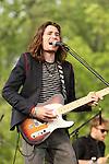 Matt Reagan, guitarist for the American pop band 2am Club performs at Rockford Park in Wilmington, Delaware May 6, 2011..Copyright EML/Rockinexposures.com.