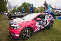 NASHVILLE, TN - SEPTEMBER 5: US Soccer FanHQ Volkswagen display at Nissan Stadium on September 5, 2021 in Nashville, Tennessee.