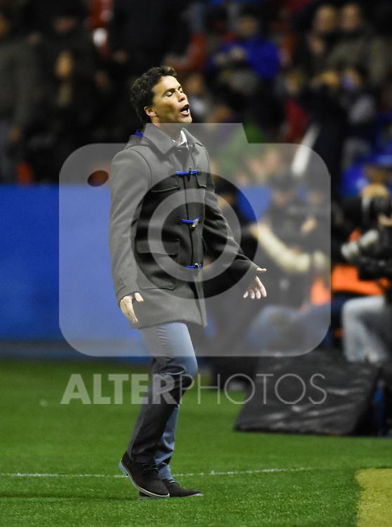 Levante's    coach Juan F. Ferrer Rubi  during La Liga match. February 19, 2016. (ALTERPHOTOS/Javier Comos)
