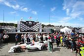 Colton Herta, Harding Steinbrenner Racing Honda, Race Winner, Crew celebration