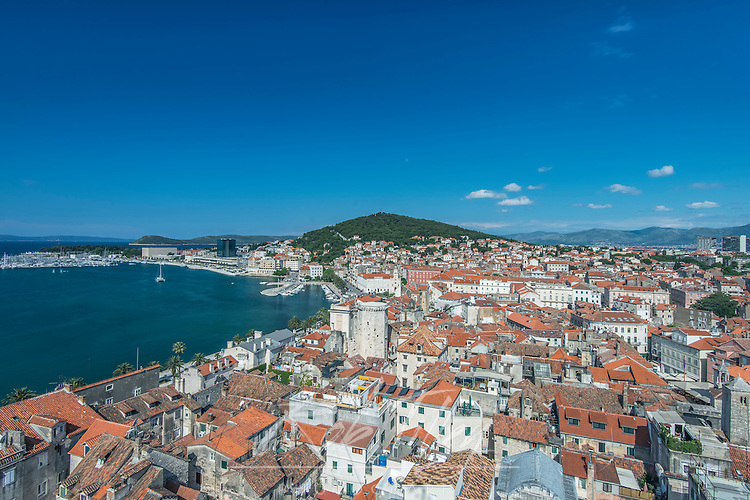 Croatia, Split, Split Old Town Viewed from the Cathedral Tower