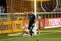 SAN JOSE, CA - SEPTEMBER 16: Vako #11 of the San Jose Earthquakes reacts during a game between Portland Timbers and San Jose Earthquakes at Earthquakes Stadium on September 16, 2020 in San Jose, California.