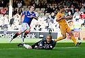 RANGERS' GREGG WYLDE CELEBRATES AFTER HE SCORES RANGERS' FIRST