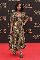Angelica Bell<br /> arriving for the Olivier Awards 2019 at the Royal Albert Hall, London<br /> <br /> ©Ash Knotek  D3492  07/04/2019