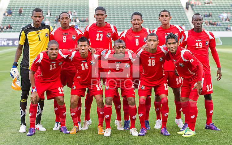 CARSON, CA - March 23, 2012: Panama starting lineup before the Honduras vs Panama match at the Home Depot Center in Carson, California.