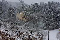 Nevada en Torralba del Pinar, Castellón