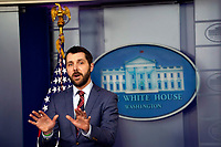 United States National Economic Council Director Brian Deese speaks at a press briefing in the Brady Press Briefing Room of the White House in Washington, DC on April 26, 2021. <br /> CAP/MPI/RS<br /> ©RS/MPI/Capital Pictures
