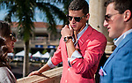 HALLANDALE BEACH, FL - JAN 28: Fans dress in style and look at the paddock Pegasus World Cup Invitational Day at Gulfstream Park Race Course on January 28, 2017 in Hallandale Beach, Florida. (Photo by Scott Serio/Eclipse Sportswire/Getty Images)