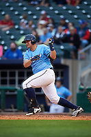 NW Arkansas Naturals designated hitter Balbino Fuenmayor (28) at bat during a game against the San Antonio Missions on May 30, 2015 at Arvest Ballpark in Springdale, Arkansas.  San Antonio defeated NW Arkansas 5-2.  (Mike Janes/Four Seam Images)