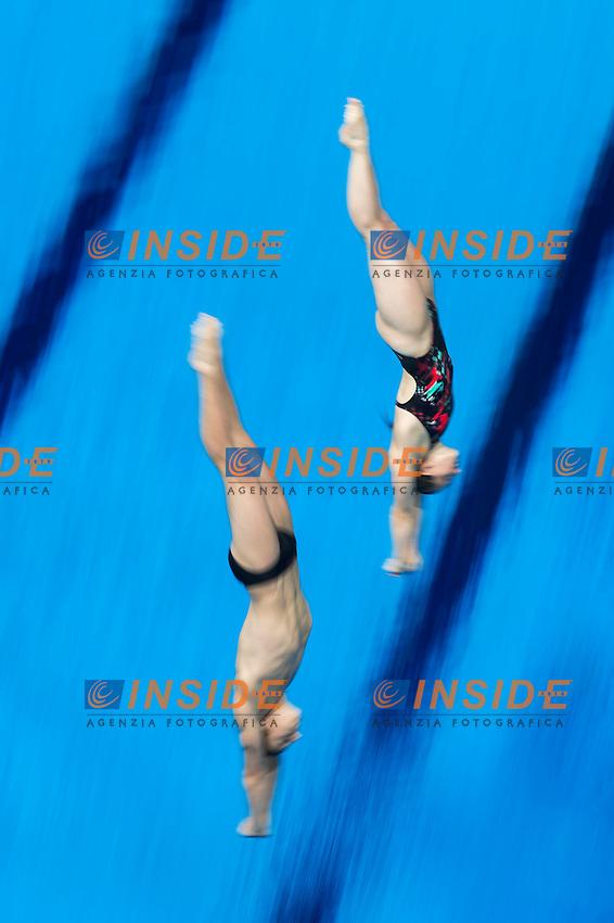 FAVRE Jessica and DUTOIT Guillame SUI<br /> Diving - Mixed 3m Synchro springboard final<br /> Day 10 02/08/2015<br /> XVI FINA World Championships Aquatics Swimming<br /> Kazan Tatarstan RUS July 24 - Aug. 9 2015 <br /> Photo Giorgio Perottino/Deepbluemedia/Insidefoto