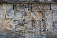 Borobudur, Java, Indonesia.  An Apsara (Hapsara), a Deity in Hindu-Buddhist Mythology.