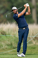 30th August 2020, Olympia Fields, Illinois, USA; Dustin Johnson of the United States plays his shot from the eighth tee during the final round of the BMW Championship on the (North) Course at Olympia Fields Country Club