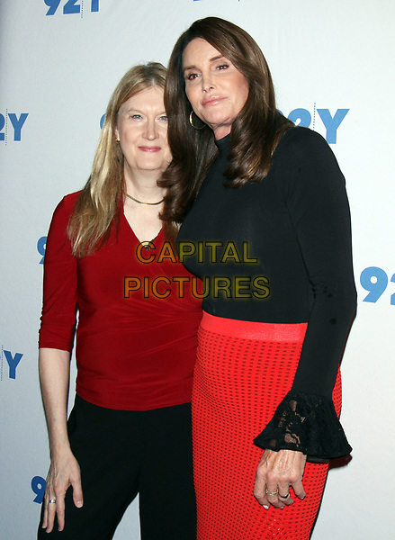 NEW YORK, NY - APRIL 25: Jennifer Finney Boylan and Caitiyn Jenner at 92Y in New York City on April 25, 2017. <br /> CAP/MPI/RW<br /> ©RW/MPI/Capital Pictures
