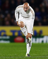 Jonjo Shelvey of Swansea City during the Capital One Cup match between Hull City and Swansea City played at the Kingston Communications Stadium, Hull