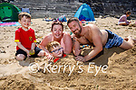 Digging deep and enjoying Ballybunion beach on Sunday. l to r: Rian, Susan, Michael Jnr, Michael Fitzgerald Snr.