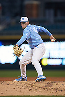 North Carolina Tar Heels starting pitcher Rodney Hutchison Jr. (48) in action against the Charlotte 49ers at BB&T BallPark on March 27, 2018 in Charlotte, North Carolina. The Tar Heels defeated the 49ers 14-2. (Brian Westerholt/Four Seam Images)