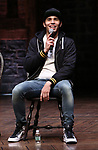 """Anthony Lee Medina during a Q & A before The Rockefeller Foundation and The Gilder Lehrman Institute of American History sponsored High School student #EduHam matinee performance of """"Hamilton"""" at the Richard Rodgers Theatre on 3/20/2019 in New York City."""