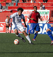 Carlos Martinez dribbles the ball. The Under-17 US Men's National Team defeated Cuba 5-0 at the 2009 CONCACAF Under-17 Championship April 21, 2009 in Tijuana, Mexico.