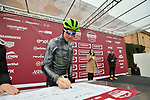 Edvald Boasson Hagen (NOR) Team Dimension Data at sign on before the start of the 2018 Strade Bianche NamedSport race running 184km from Siena to Siena, Italy. 3rd March 2018.<br /> Picture: LaPresse/Massimo Paolone | Cyclefile<br /> <br /> <br /> All photos usage must carry mandatory copyright credit (© Cyclefile | LaPresse/Massimo Paolone)