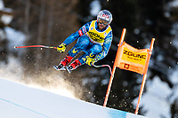26th December 2020; Stelvio, Bormio, Italy; FIS World Cup Mens Downhill;   Travis Ganong of the USA during his 1st training run for the mens downhill race of FIS ski alpine world cup at the Stelvio