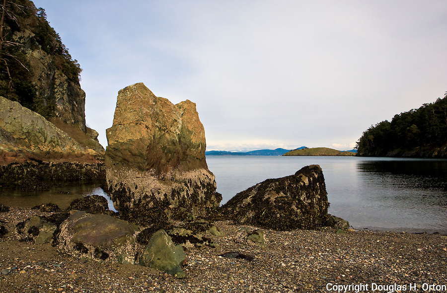 Incredible 'painted rocks' at Watmough Bight Preserve on Lopez Island, in the San Juan Islands of Washington.  Watmough Bight is a successful preservation effort of the San Juan Preservation Trust, an active organization responsible for significant contribution to the preservation of public lands.