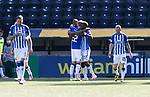 Kilmarnock v St Johnstone……15.08.20   Rugby Park  SPFL<br />Aaron Tshibola celebrates his goal<br />Picture by Graeme Hart.<br />Copyright Perthshire Picture Agency<br />Tel: 01738 623350  Mobile: 07990 594431