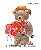 GIORDANO, CUTE ANIMALS, LUSTIGE TIERE, ANIMALITOS DIVERTIDOS, Teddies, paintings+++++,USGI1617,#AC# teddy bears