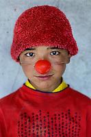 Clowning monk at Hemis Monastery, Ladakh, northern India 2006.