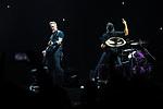 © Joel Goodman - 07973 332324 . 28/10/2017 . Manchester , UK . James Hetfield and Lars Ulrich . Metallica perform at the Manchester Arena . Photo credit : Joel Goodman