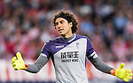 Goalkeeper Francisco Guillermo Ochoa Magana of Granada CF reacts during their La Liga match between Atletico de Madrid and Granada CF at the Vicente Calderon Stadium on 15 October 2016 in Madrid, Spain. Photo by Diego Gonzalez Souto / Power Sport Images