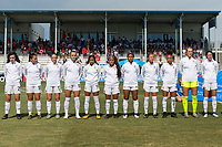 Bradenton, FL - Friday, June 08, 2018: USA Starting XI during a U-17 Women's Championship match between the United States and Canada at IMG Academy.  USA defeated Canada 1-0 to take top spot in their group and advance to the semifinals.