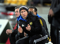 Hurricanes strength and conditioning coach Dave Wildash during the Super Rugby match between the Hurricanes and Blues at Westpac Stadium, Wellington, New Zealand on Saturday, 2 July 2016. Photo: Dave Lintott / lintottphoto.co.nz