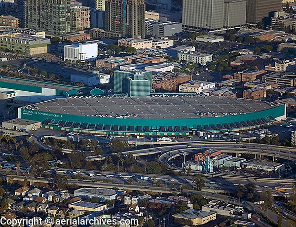 aerial photograph Los Angeles Convention Center, California