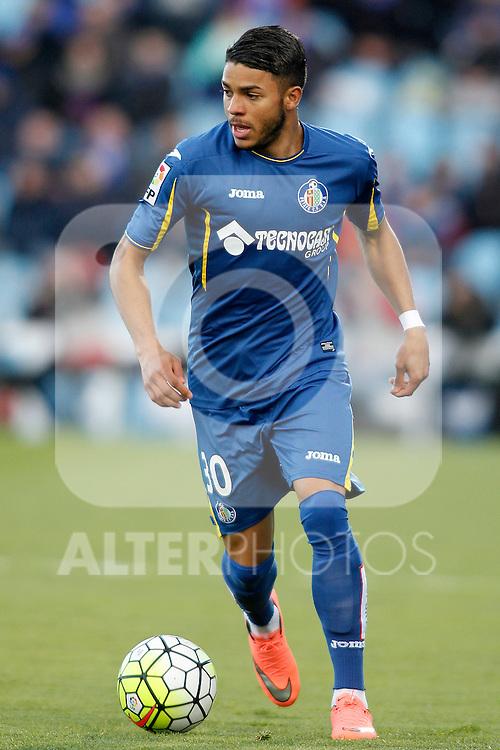 Getafe's Wanderson during La Liga match. February 27,2016. (ALTERPHOTOS/Acero)