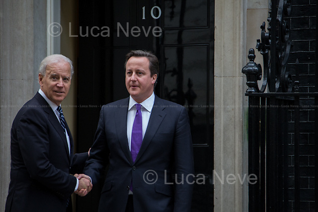 David Cameron (British Prime Minister) and Joe Biden (Vice President of the United States).<br />