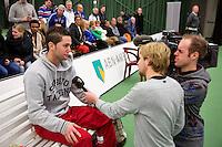 20-01-13, Tennis, Rotterdam, Wildcard for qualification ABNAMROWTT,  TV interview met Jesse Timmermans.