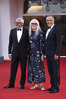 Roberto Cicutto, Jane Campion and Alberto Barbera attending the Closing Ceremony Red Carpet as part of the 78th Venice International Film Festival in Venice, Italy on September 11, 2021. <br /> CAP/MPI/IS/PAC<br /> ©PAP/IS/MPI/Capital Pictures