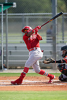 GCL Cardinals Francisco Hernandez (4) at bat during a Gulf Coast League game against the GCL Astros on August 11, 2019 at Roger Dean Stadium Complex in Jupiter, Florida.  GCL Cardinals defeated the GCL Astros 2-1.  (Mike Janes/Four Seam Images)