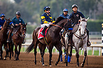ARCADIA, CA - FEBRUARY 10: Ax Man and Drayden Van Dyke at the San Vicente Stakes at Santa Anita Park on February 10, 2018 in Arcadia, California. (Photo by: Alex Evers/Eclipse Sportswire/Getty Images)