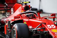8th October 2021; Formula 1 Turkish Grand Prix 2021 free practise at the Istanbul Park Circuit, Istanbul;  SAINZ Carlos esp, Scuderia Ferrari SF21