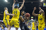 10.05.2019, EWE Arena, Oldenburg, GER, easy Credit-BBL, EWE Baskets Oldenburg vs Mitteldeutscher BC, im Bild<br /> viel Gelb..<br /> Trevor RELEFORD (Mitteldeutscher BC #12 ) Nathan BOOTHE (EWE Baskets Oldenburg #45 ) Viojdan STOJANOVSKI (EWE Baskets Oldenburg #19 ) Justin SEARS (EWE Baskets Oldenburg #0 )<br /> Foto © nordphoto / Rojahn