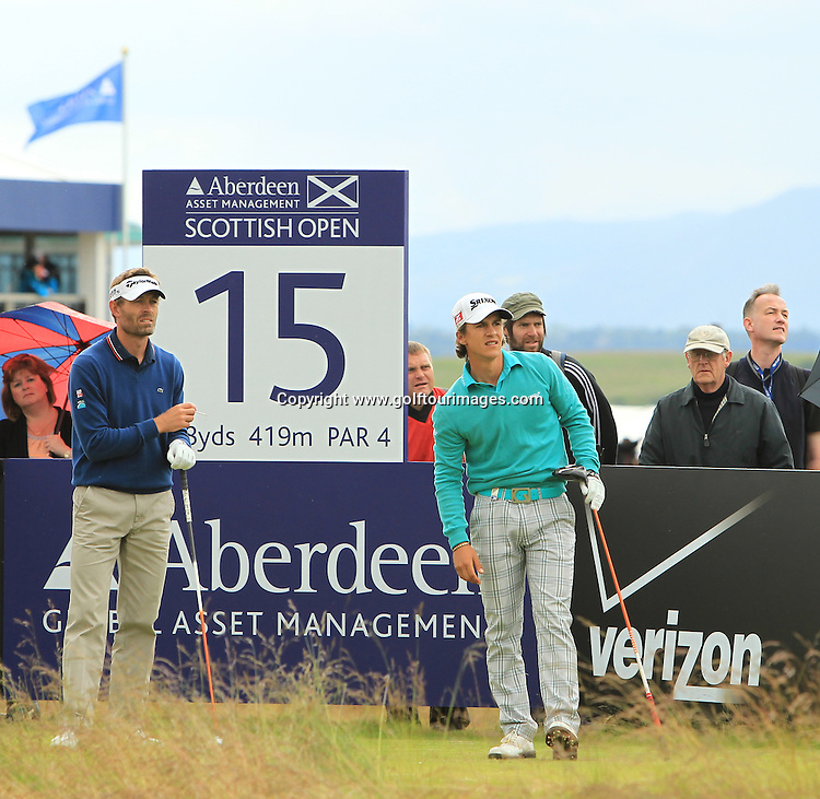 Thonbjorn Olesen (DEN) during the third round of the 2012 Aberdeen Asset Management Scottish Open being played over the links at Castle Stuart, Inverness, Scotland from 12th to 15th July 2012:  Stuart Adams www.golftourimages.com:14th July 2012