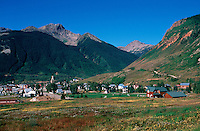 The old mining town of Silverton, Colorado; a National Historic District. San Juan Mountains.