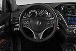 Car pictures of steering wheel view of a 2018 Acura MDX Sport Hybrid Advance Package 5 Door SUV