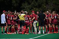 Stanford, Ca - August 30, 2019: The Stanford Cardinal vs Northwestern Wildcats field hockey game at Varsity Turf in Stanford, California. Final score, Stanford 3, Northwestern 4.
