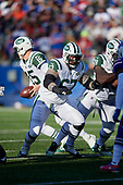 New York Jets guard Brian Winters (67) blocks during an NFL football game against the Buffalo Bills, Sunday, December 9, 2018, in Orchard Park, N.Y.  (Mike Janes Photography)