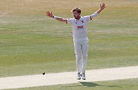 Sam Cook of Essex appeals for the wicket of Mark Stoneman during Essex CCC vs Surrey CCC, Bob Willis Trophy Cricket at The Cloudfm County Ground on 9th August 2020