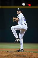 Winston-Salem Dash relief pitcher McKinley Moore (36) in action against the Bowling Green Hot Rods at Truist Stadium on September 7, 2021 in Winston-Salem, North Carolina. (Brian Westerholt/Four Seam Images)